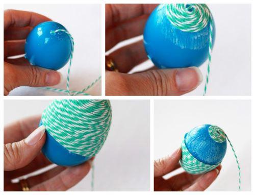 DIY Πασχαλινά αυγά με σπάγκο