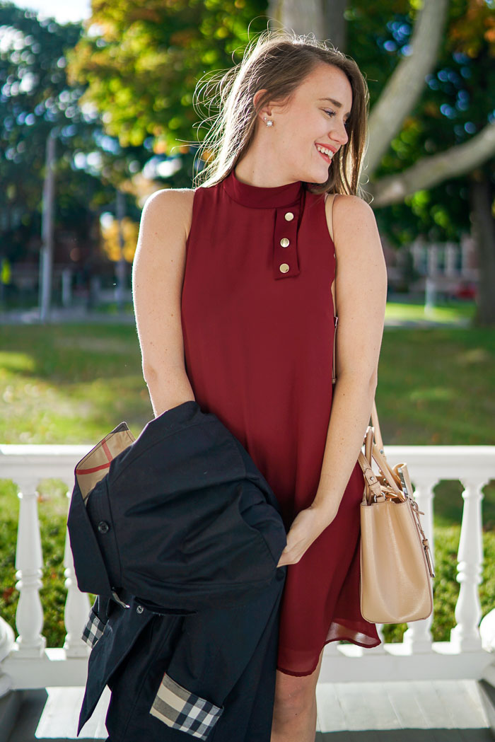 Krista Robertson, Covering the Bases,Travel Blog, NYC Blog, Preppy Blog, Style, Fashion Blog, Travel, What to wear-to-work, Work outfits, How to Dress for Work, Fall Outfits, Fall Style, What to Wear in the Fall, Burgundy Dress, What to Wear for the Fall