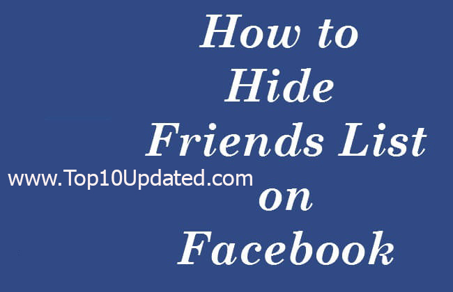 How To Hide Completely Facebook Friends From Public And Friends