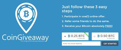 Giveaway Bitcoin 0.25 - 0.50 BTC Gratis