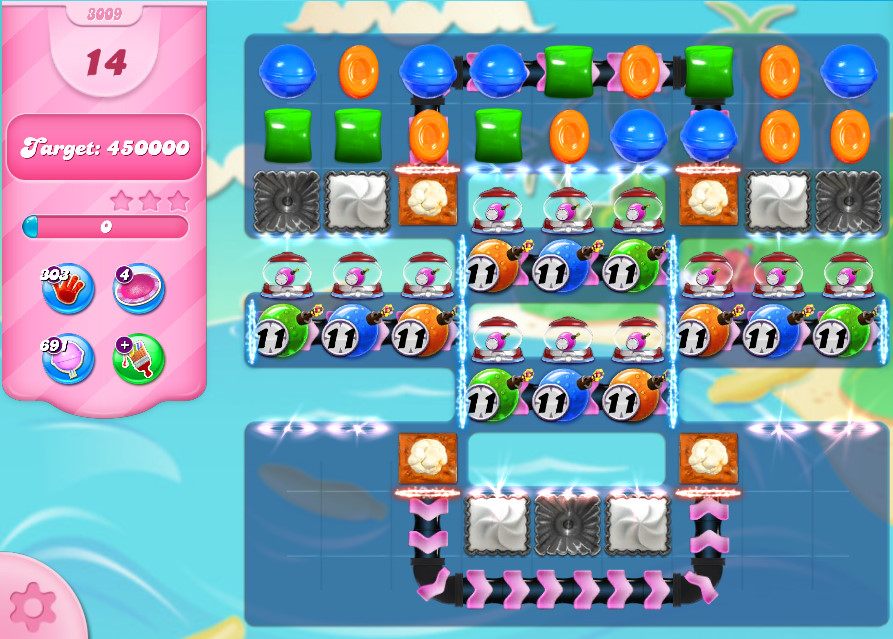 Candy Crush Saga level 3009