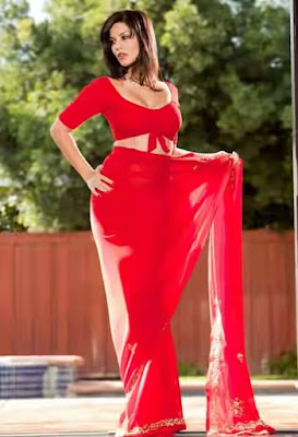Sunny Leone red saree 1 478x700 - Sunny Leone's Extreme Sexiest 3 Collections In Saree even try to show her Booms-SUNNY LEONE ka SEXY