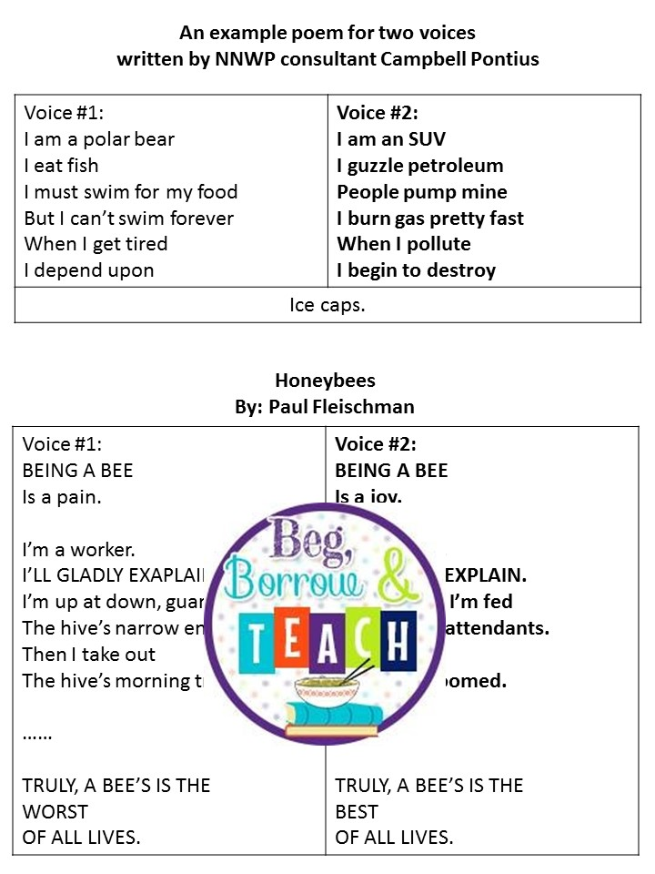 Lyric bumble bee song lyrics : Beg, Borrow, and Teach!: Try Two-Voice Poetry and Figurative ...