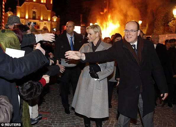 Princess Charlene showed no signs of any sleepless nights as she attended the traditional Sainte Devote celebration in Monaco. Sainte Devote, the country's patron saint, is a cherished part of Monegasque heritage