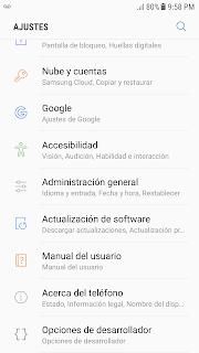 Opciones de desarrollador Android Studio