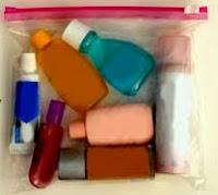 Liquids in baggie.