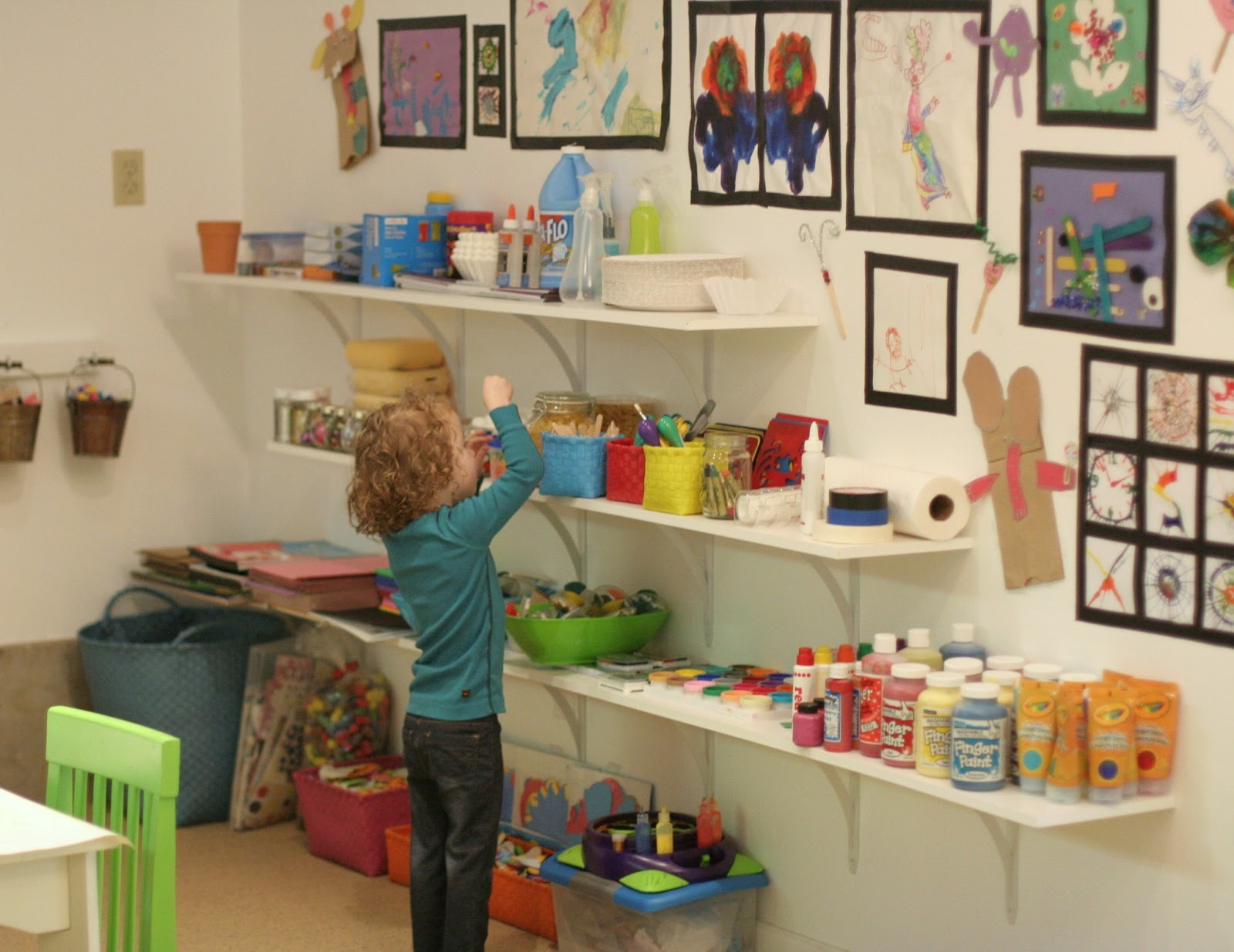 Playroom Design: Our Art Room from Fun at Home with Kids