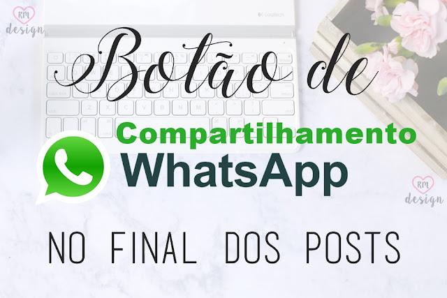 Como inserir um botão de Compartilhar no Whatsapp com ícone do Whatsapp?