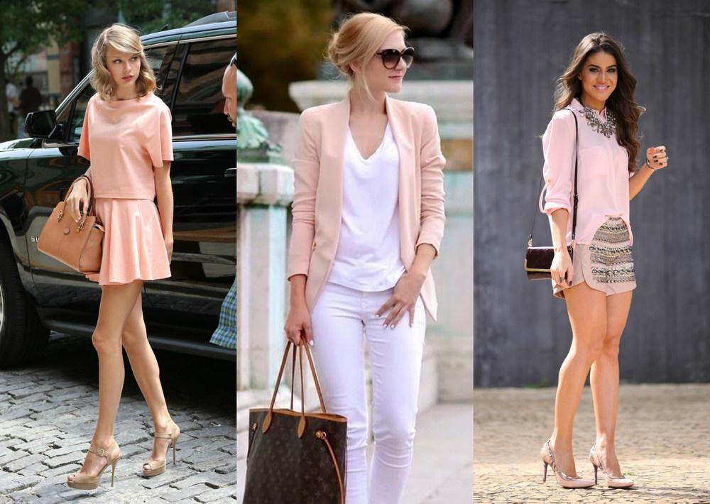Resultado de imagem para look com rosa claro 2016
