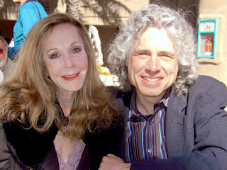 Steven Pinker with his present wife Rebecca Newberger Goldstein