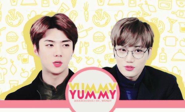 ترجمه | برنامج Yummy Yummy  مع سيهون وكاي