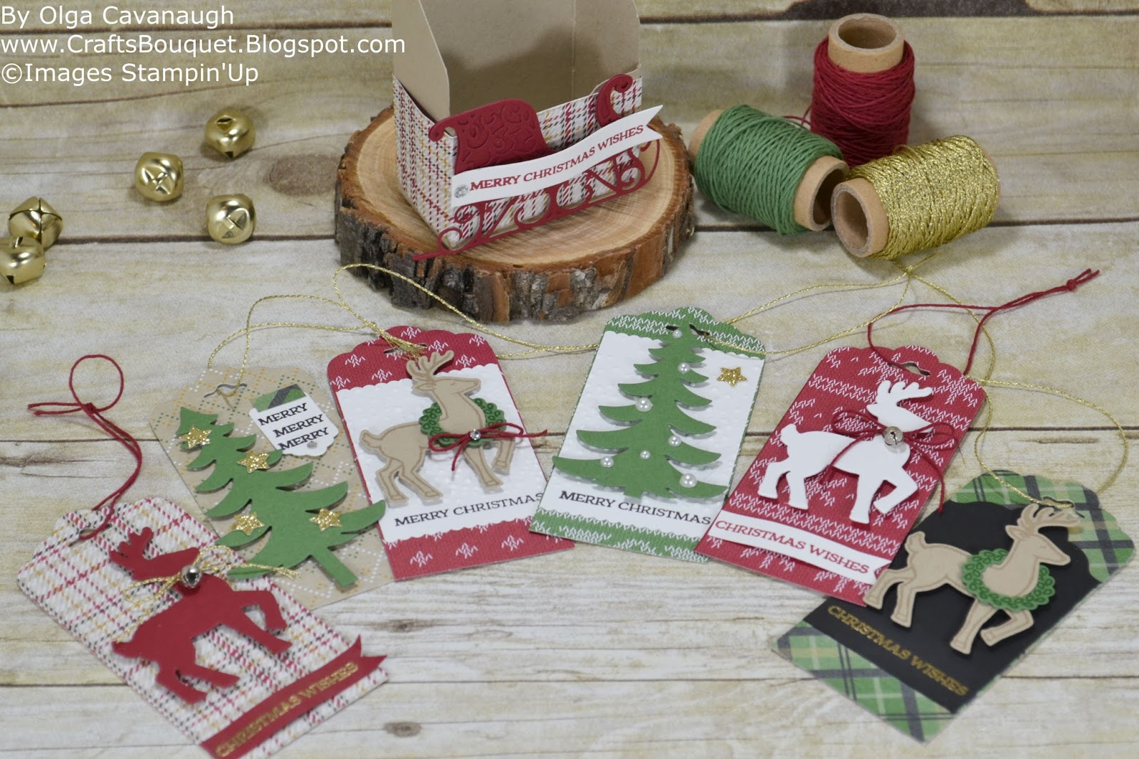 Crafts Bouquet Stampin'up Santa's Sleigh  Handmade For