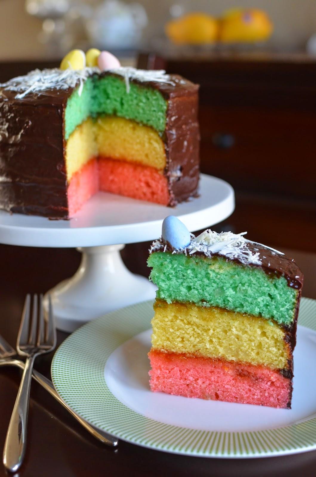 Tri Color Cake Recipe