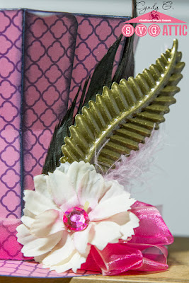 Mad Hatter top hat with feathers