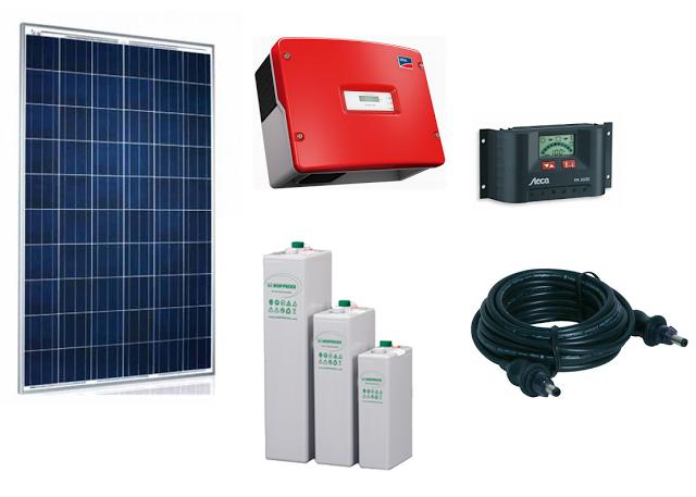 مكونات نظام توليد الكهرباء بالطاقة الشمسية