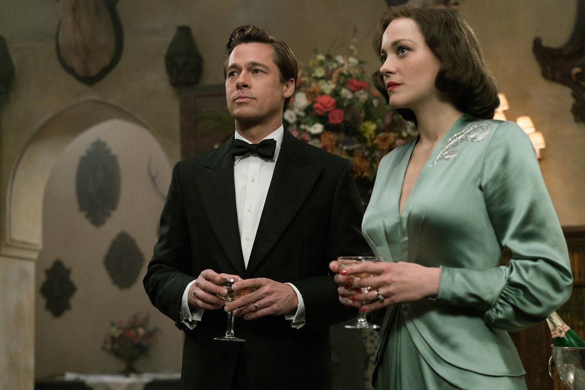 Aliados - pelicula - Brad Pitt y Marion Cotillard