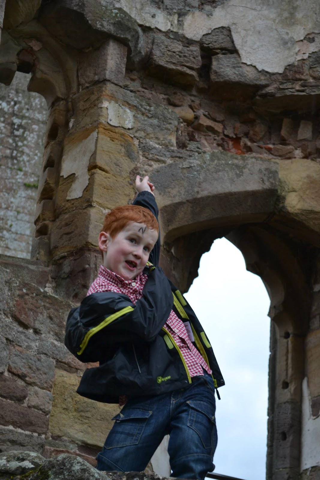 Ieuan at Raglan Castle - Easter Events Cardiff 2016 - motherdistracted.co.uk