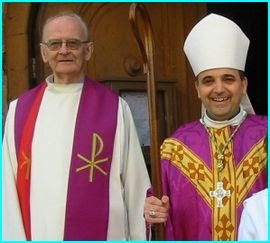 Père Joseph Faucoup et Mgr Dominique Lebrun