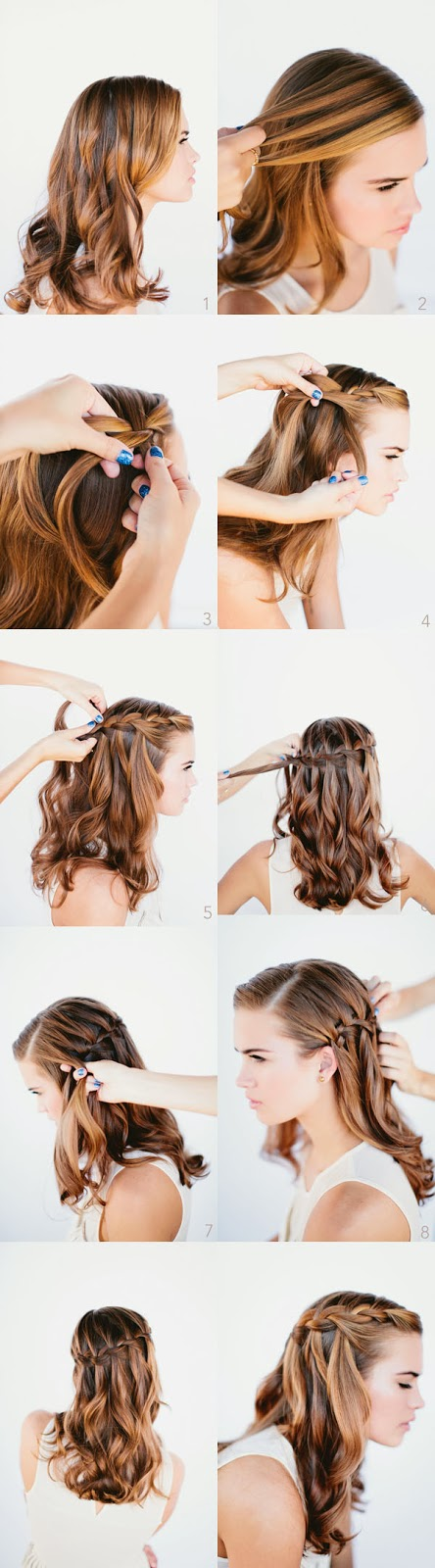 Tutorial Waterfall Braid Hairstyle
