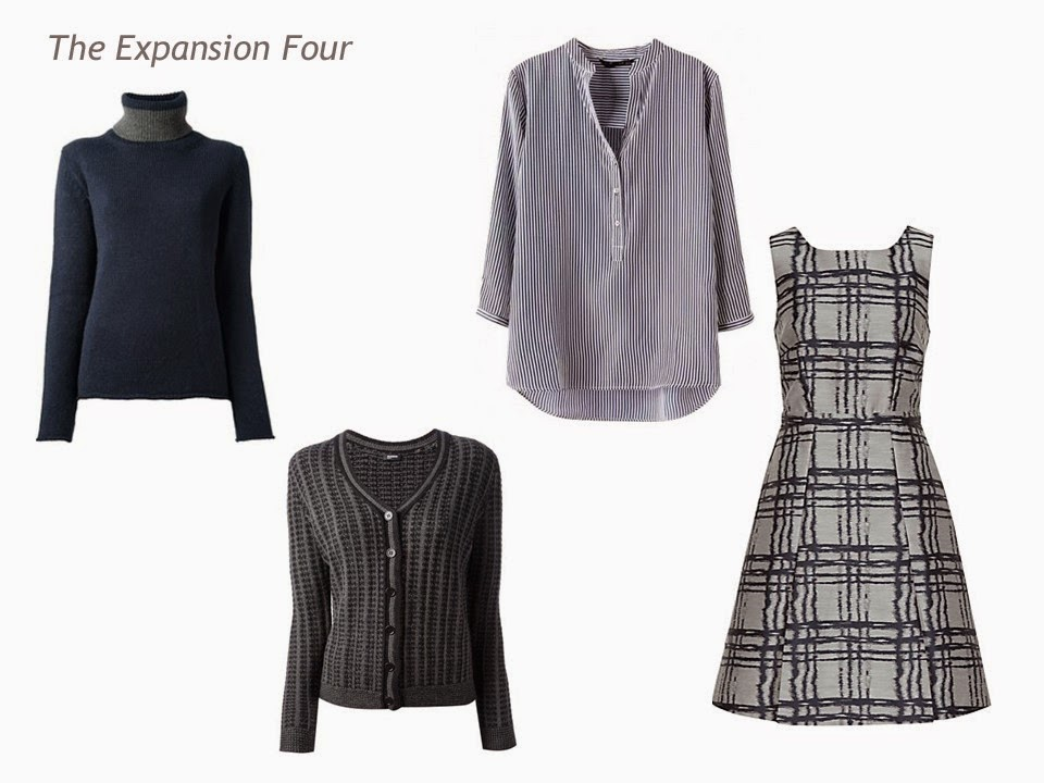 Expansion Four four garments grey and navy for Four by Four Wardrobe