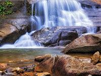 Telaga Tujuh Waterfall, Langkawi in Malaysia