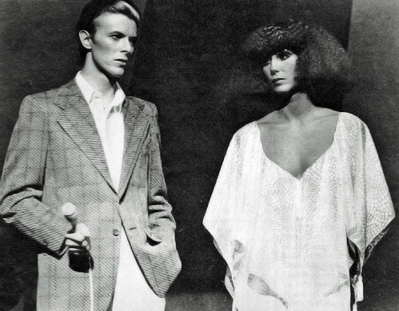 pictures of david bowie performing with cher on the cher show in