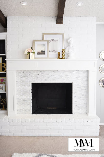 Adding surround to brick fireplace