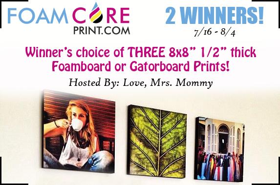 FoamCorePrint Giveaway! 8/4 @Foamcoreprint1