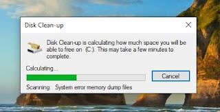 disk clean up untuk membersihkan drive c1