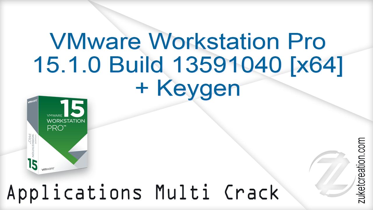 Crack AllSofts: VMware Workstation Pro 15 1 0 Build 13591040