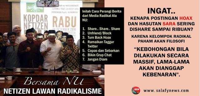 Ini Cara Netizen NU Lawan Radikalisme di Medsos