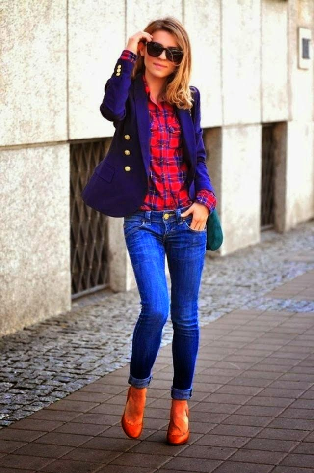 Jeans And Blue Coat
