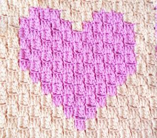 вязание от угла к углу сердечко