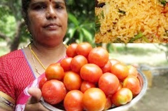 FARM FRESH TOMATO Dum Biryani Recipe | Prepared By My Mummy | VILLAGE FOOD