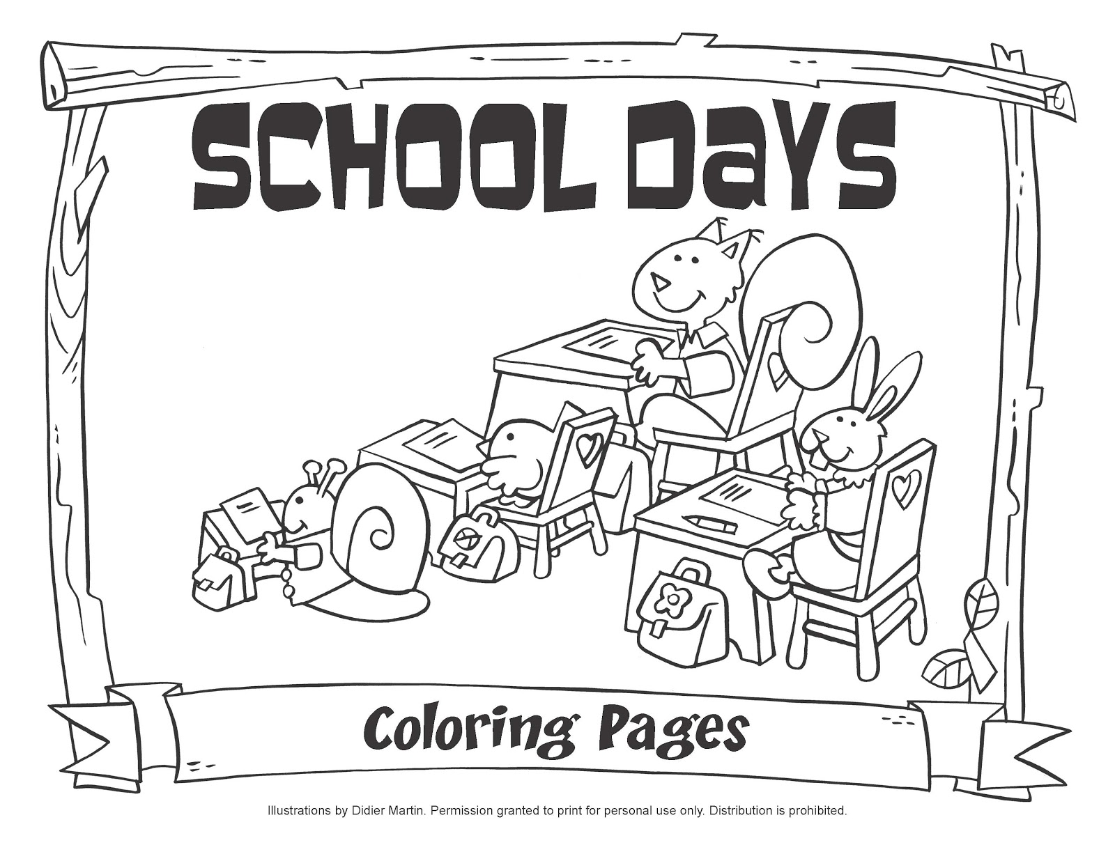 Pupils listening to their teacher coloring pages - Hellokids.com | 1236x1600