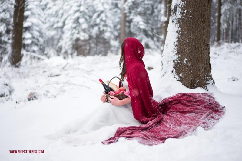 Märchenshooting Rotkäppchen im Schnee