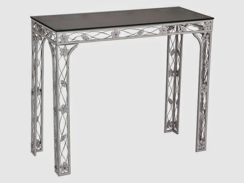 consola forja, mueble recibidor forja