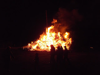 Osterfeuer in Grippel 2016