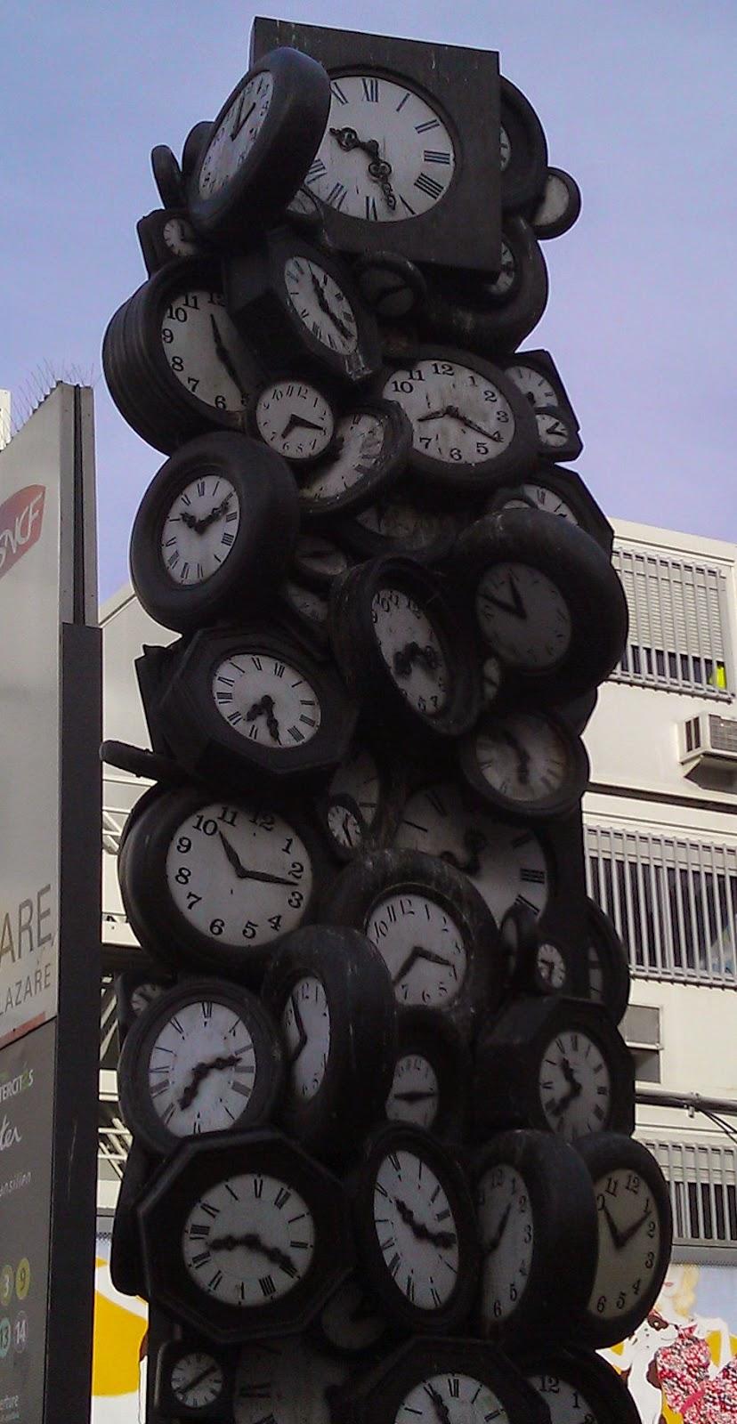 Clock Sculpture - Paris