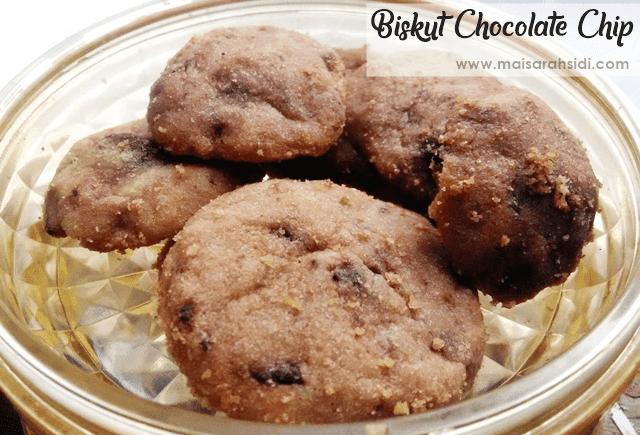 Resepi Biskut Chocolate Chip Mudah dan Sedap