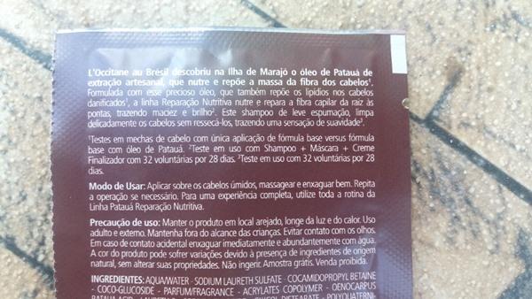 Linha Patauá da L'Occitane Au Brésil: Descrição do shampoo
