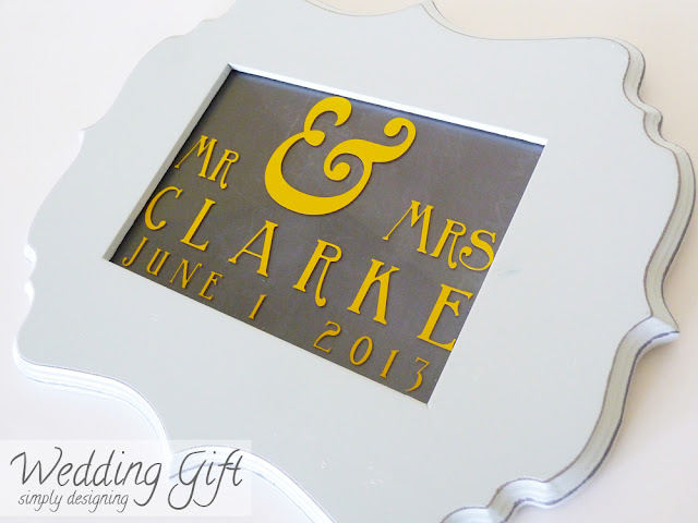 Wedding Date Sign {vinyl} #wedding #weddinggift #vinyl