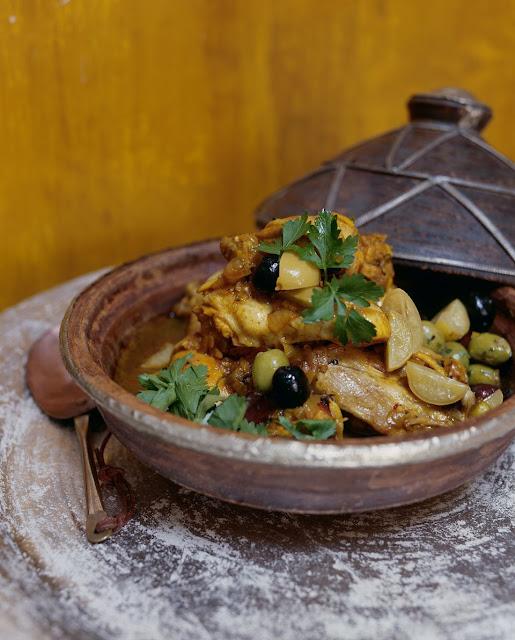 recette de tajine de poulet et d'oignon