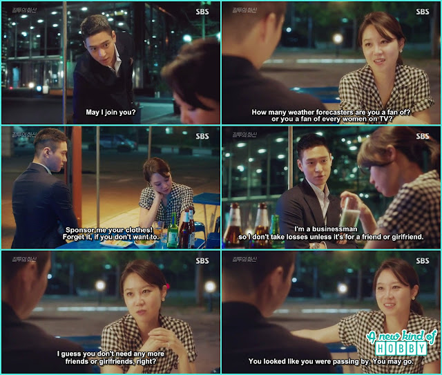 jung won wantto give company when na ri was drinking alone soju - Jealousy Incarnate - Episode 3 Review - Hospital Encounter