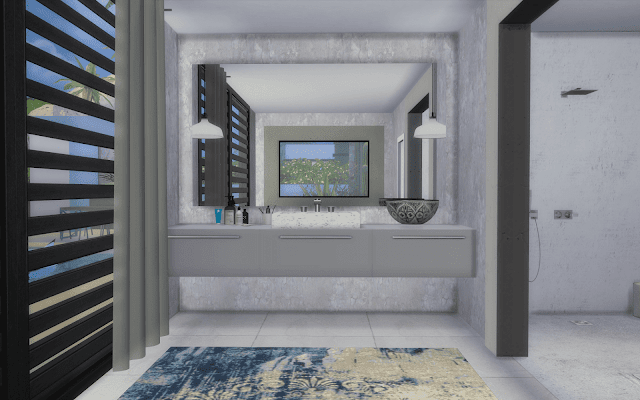 modern bathroom Sims 4