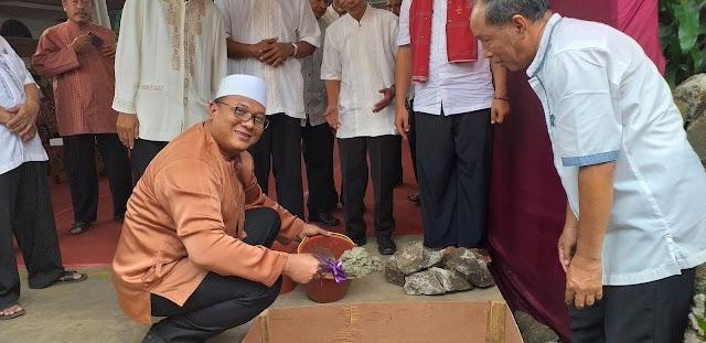 Pradi Letakkan Batu Pertama Pembangunan Masjid Nurul Jannah