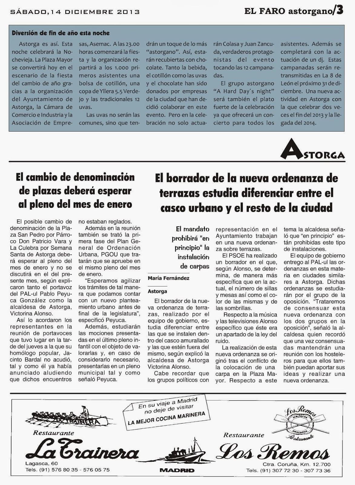 Dossier Prensa Ayuntamiento De Astorga Diciembre 2013