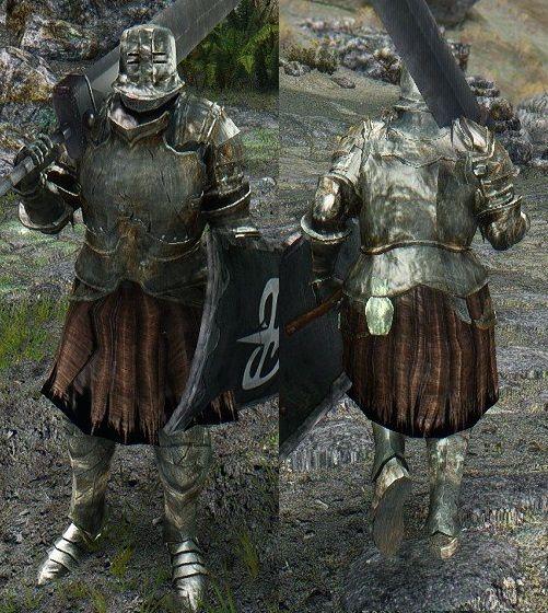 Ds Black Iron Tarkus Set Hdt Cloth Eskyrim