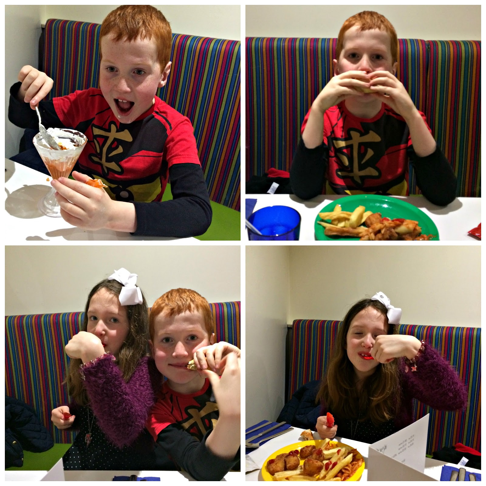 Caitlin and Ieuan enjoyed the food at The Deck, Butlins Minehead