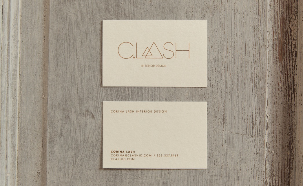 We Also Created Business Cards For Corina Printed On 100 Cotton Paper Off White With A Bit Of Texture In Rich Metallic Gold Foil That Catches The